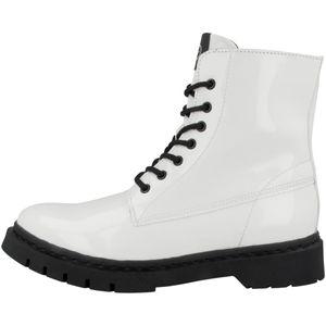 Tamaris Damen Schnürstiefelette Stiefeletten 1-25833-27, Größe:41 EU, Farbe:Weiß