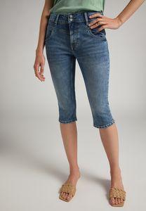 MUSTANG Damen Hose Rebecca Capri 2B Slim Fit Farbe: mittelblau Größe: 29