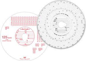 RNK Verlag Diagrammscheibe HAUG 125 km/h Kombi weiß 100 Stück