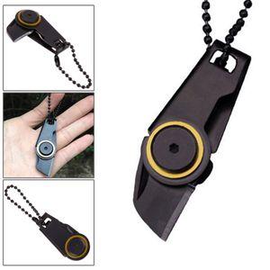 Mini Klappmesser, kleines Taschenmesser, Taschenwerkzeug, Schlüsselanhänger Messer in Schwarz