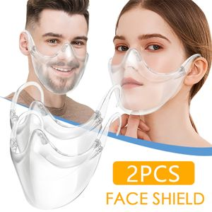 2pcs Durable Mask Face Combine Kunststoff Wiederverwendbare Clear Face Mask Shield