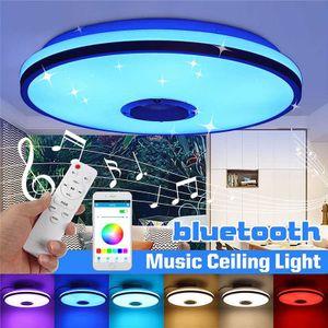 Led Deckenleuchte mit Bluetooth Lautsprecher, 60W Sternenhimmel Deckenlampe mit Fernbedienung,  Dimmbar für Kinderzimmer Schlafzimmer [Energieklasse A+]