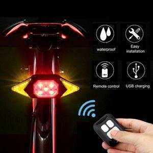 Fernbedienung Wireless USB Bike Laser LED Rückleuchte Blinker Fahrradleuchte
