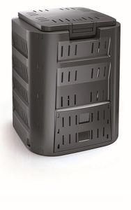 Prosperplast Compogreen Komposter Gartenkomposter mit Abdeckung Schiebeklappe Luftzirkulation (220L)