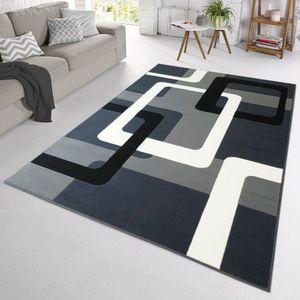 Velours Design Teppich Retros Kurzflor | verschiedene Farben modern, Farbe:Grau, Größe:160x230 cm