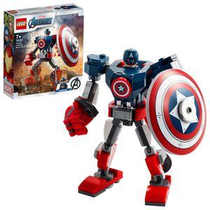 LEGO 76168 Marvel Avengers Captain America Mech Set, Actionfigur für Jungen und Mädchen ab 7 Jahren