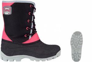 Winter-grip Kinder Schneestiefel Jr Northern Hiker Schwarz/Grau/Rosa Winter-Schuhe, Größe:31/32
