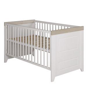 """roba Kombi-Kinderbett """"Felicia"""", 70 x 140 cm, Babybett, weiß, mitwachsend, höhenverstellbar, 3 Schlupfsprossen, umbaubar zum Juniorbett"""