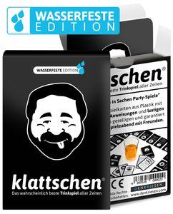 DENKRIESEN - klattschen® - Trinkspiel - Das wahrscheinlich beste Trinkspiel aller Zeiten , Ausführung: wasserfeste Plastikkarten