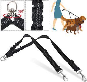 Doppelleine Hundeleine für 2 Hunde Keine Verwicklung Reflektierend Hundeleine Doppelte Gepolsterte Griffe Verstellbar Splitterleinen