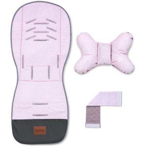 Bellochi Sitzauflage Kinderwägen Sitzauflage Buggy Sommer - Universal und Luftige mit Anti-Shock-Kissen - -Zertifikat - aurora