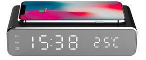 Echos Uhrenwecker Smartphone Uhren Wecker Kabelloses Aufladen Handy Wireless Charger schwarz