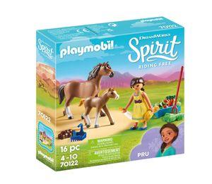 PLAYMOBIL Spirit 70122 Pru mit Pferd und Fohlen