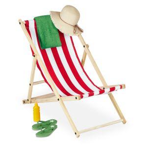 relaxdays Liegestuhl Holz klappbar