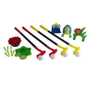 Golf Set Kinderspielzeug Garten 13-teilig Kunststoff Erstausrüstung Spielzeug