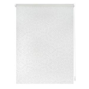 Rollo Klemmfix, ohne Bohren, blickdicht, Henna - Weiß 80 x 180 cm (B x L)