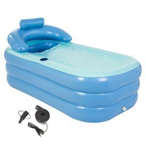 Crenex Aufblasbare Badewanne Spa-Badewanne Aufblasbare Pool mit elektrische Pumpe für Erwachsene Reise Wanne PVC Klappbar Bathtub