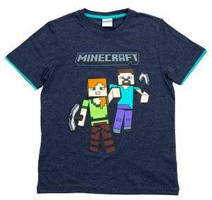 Minecraft T-Shirt Mining Team blau Größe 152