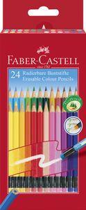 FABER-CASTELL Buntstifte radierbar 24er Kartonetui