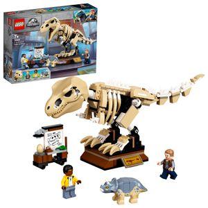 LEGO 76940 Jurassic World T. Rex-Skelett in der Fossilienausstellung, Spielzeugset für Kinder ab 7 Jahren, Dinosaurier Skelettmodell, Geschenkidee