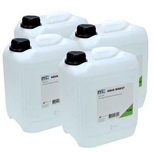 Medicalcorner24 Bidestilliertes Wasser AQUA BIDEST, Laborwasser, Reinst-Wasser, 4x 5 Liter