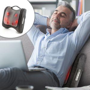 Massagekissen von Donnerberg Krafty für Rückenmassage Shiatsu Massage & Klopf Massagegerät Rücken Klopfmassage Wärmefunktion