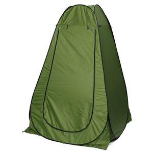 1,86m Toilettenzelt Duschzelt Camping Zelt Umkleidezelt Dusche Zelt mit Tragetasche, Farbe: Grün