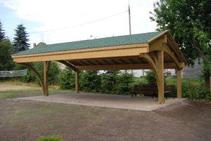 Jardinion Carport Revelatio Triple, Dach Schwarz 840 x 589 x 340cm