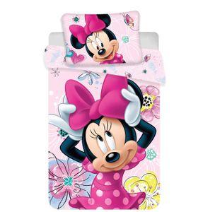 Disney Baby Kinder Bettwäsche Minnie Mouse rosa Schmetterlinge 135x100 60x40