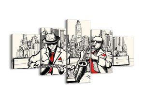 "Leinwandbild - 125x70 cm - ""New Yorker Improvisation""- Wandbilder - New York Musiker - Arttor - EA125x70-3599"