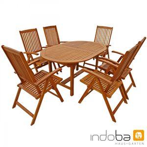 Indoba® Gartenmöbel Set 7-teilig Sun Shine Gartenmöbel Holz Garnitur