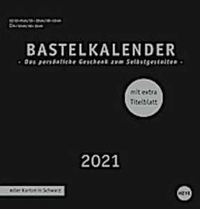 Bastelkalender 2021 schwarz, mittel