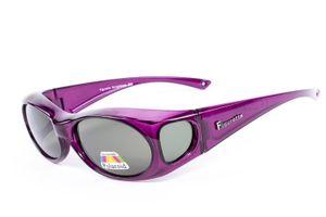 Figuretta Sonnenbrille Überbrille in Lila aus der TV Werbung Schutz Optik Style Brille Getönt Sonnenschutz Blendschutz Sommer Sonne Urlaub Style Sonnenschein