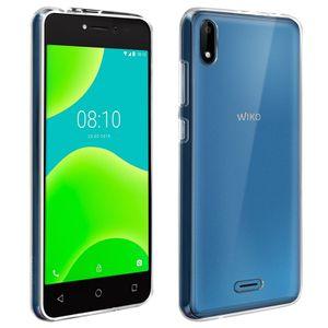WIKO Pack Transparente flexible Schale + gehärtetes Glas Wiko Y50