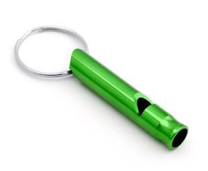 Signalpfeife Pfeife für Outdoor Notfallpfeife Hundepfeife Trillerpfeife Trainingspfeife als Schlüsselanhänger in der Farbe grün