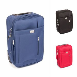 MasterGear Handgepäck Koffer Trolley - für ALLE Fluggesellschaften geeignet, Farbe:schwarz