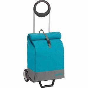 Gimi 157-763 Einkaufsroller MARINE teal 69L, blau