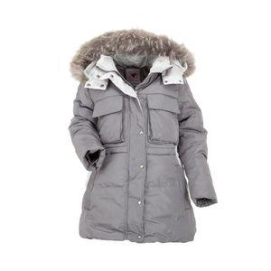 Ital-Design Damen Jacke/Mantel Mantel Grau Gr.134/140