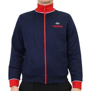 Lacoste Sport Sweatshirt Herren Sonstige Pullover Dunkelblau/Rot/Weiß (SH1555 DB3) Größe: S