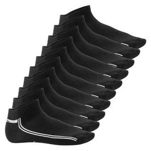 10 Paar SNEAK IT! Sneaker - Schwarz mit Streifen 43/46