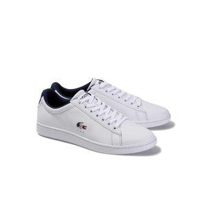 Lacoste Carnaby Evo Sneaker Herren Erwachsene weiß / dunkelblau 11 UK - 46 EU - 12 US