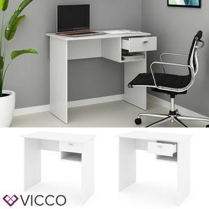 VICCO Schreibtisch COLIN Weiß Arbeitstisch Bürotisch Regal PC Tisch Schublade
