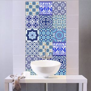10er Stickerfliesen 20x20 cm Fliesenaufkleber Fliesenfolie Mosaikfliesen Fliesen-Sticker Folie Aufkleber Selbstklebende Fliesenbilder für Badezimmer Küche Deko(zufällige Farbe)