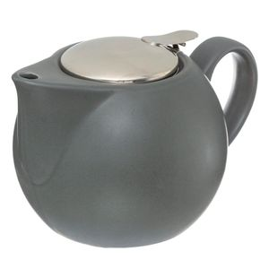 Teekanne mit Sieb 750 ml weiß - Secret de Gourmet, Farbe:Grau