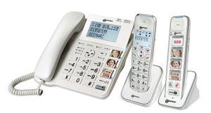 Geemarc PACK SENIOR 295 verstärktes schnurgebundenes 30 dB Seniorentelefon (+Anrufbeantworter)  und 2 Zusatz-Dect-Telefone (mit und ohne Fototasten)  - Deutsche Version