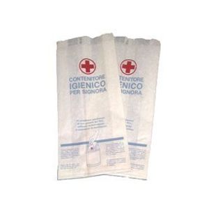 Marplast Papier hygienebeutel für Damenbinden, Variante:Mit Klarsichtfolie