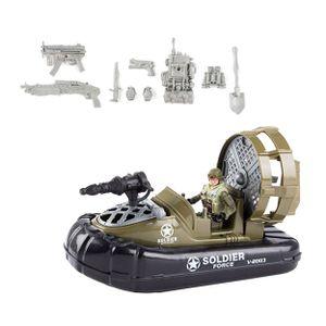 ARMY MOTORBOOT Militar mit Soldat 22cm Luftkissenboot Militärboot Boot Modell Spielzeug Geschenk 99