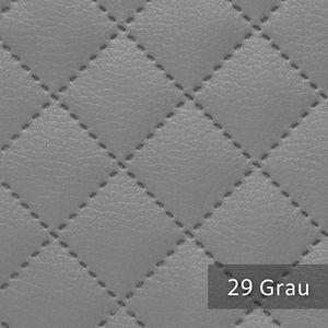 novely® Soltau Kunstleder 3-LAGIG gesteppt kaschiert   gesteppter Volumen Polsterstoff   KARO Möbelstoff Premium   Grau
