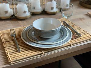 Camping Geschirrset für 4 Personen aus Melamin Picknick  Geschirr Campinggeschirr Tafelgeschirr