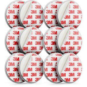 deleyCON 6x Magnetbefestigung für Rauchmelder Magnethalter Feuermelder selbstklebende Magnethalterung 3M Klebefläche Durchmesser 65mm